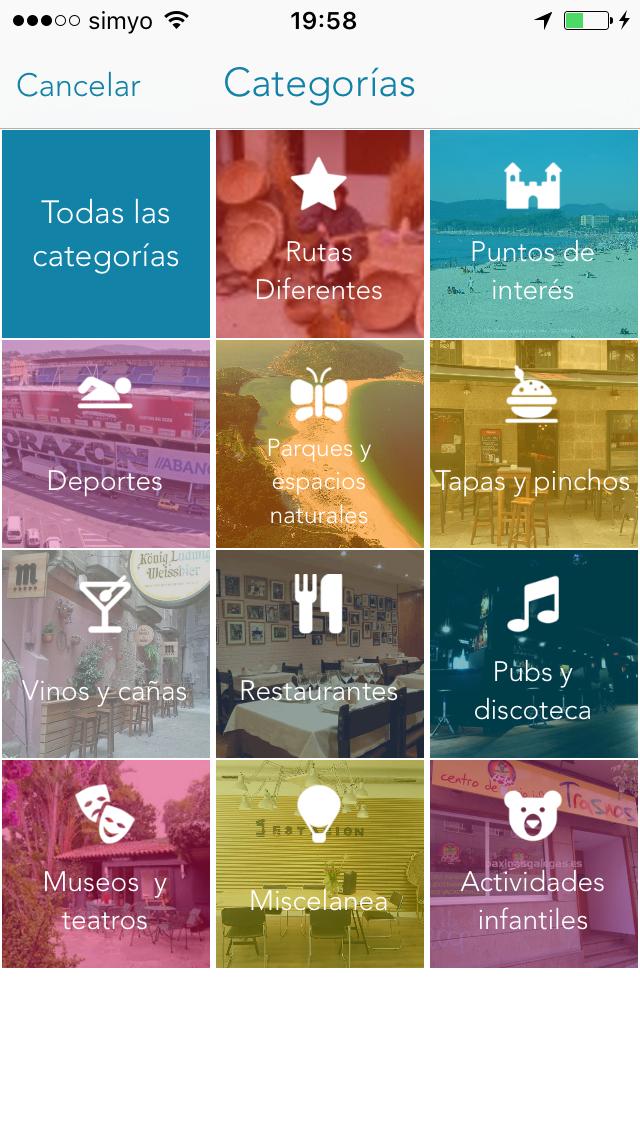 Captura de la app QHV (Qué hacer en Vigo) - Una app SmartPromo